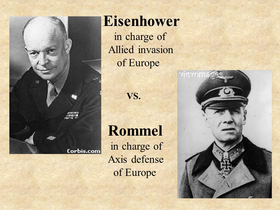 Who was in charge of the Allies offensive in Europe and who was in charge of the Nazi defense of Europe?