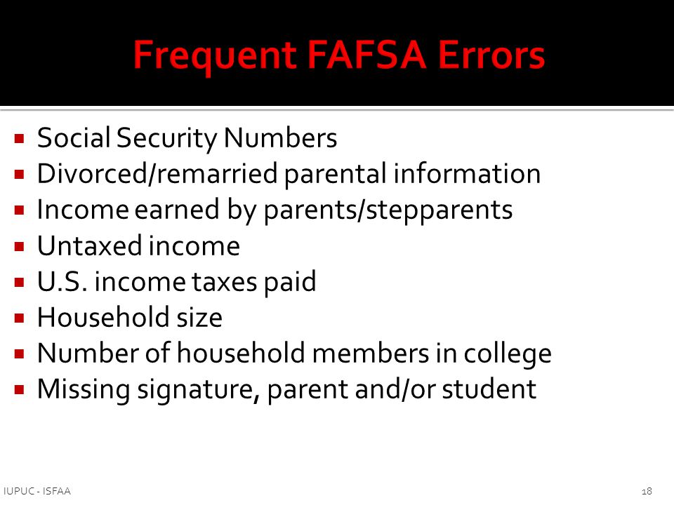 Appeal that allows you to report things that cannot be reported on the FAFSA:  Change in employment status  Death or divorce  Medical bills not covered by insurance  Change in parent marital status  Unusual dependent care expenses Ask financial aid office for Special Circumstances Appeal form to report this information 19 IUPUC - ISFAA