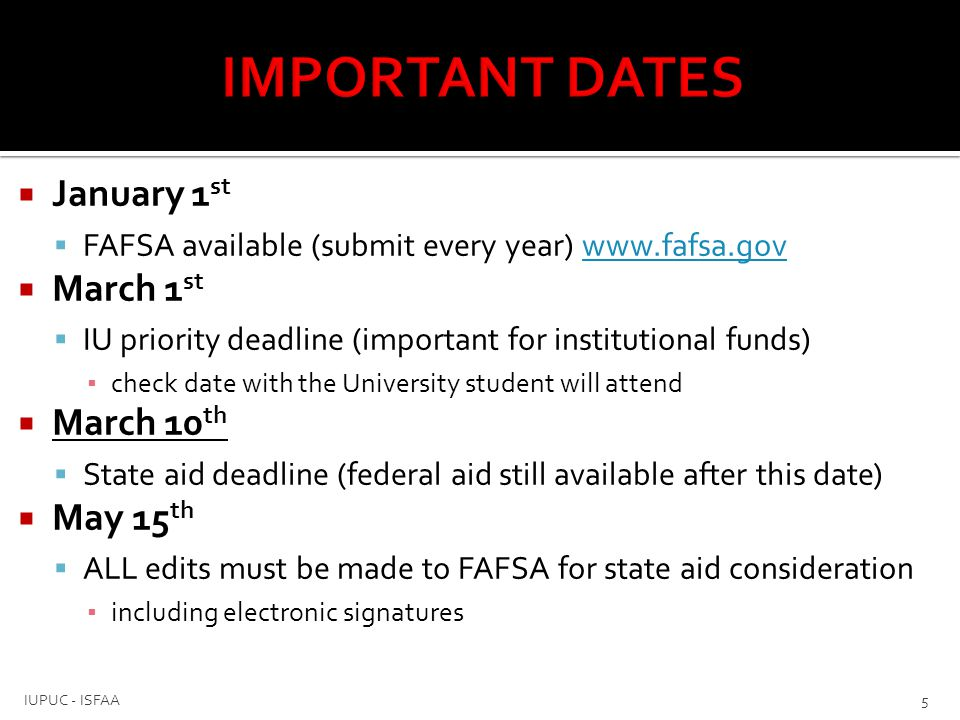  Confirms applicant meets certain eligibility criteria  Social Security Administration  Selective Service  National Student Loan Data System (NSLDS)  If FAFSA does not pass a database match, it will cause delays in processing (federal, state and institutional) funds 6 IUPUC