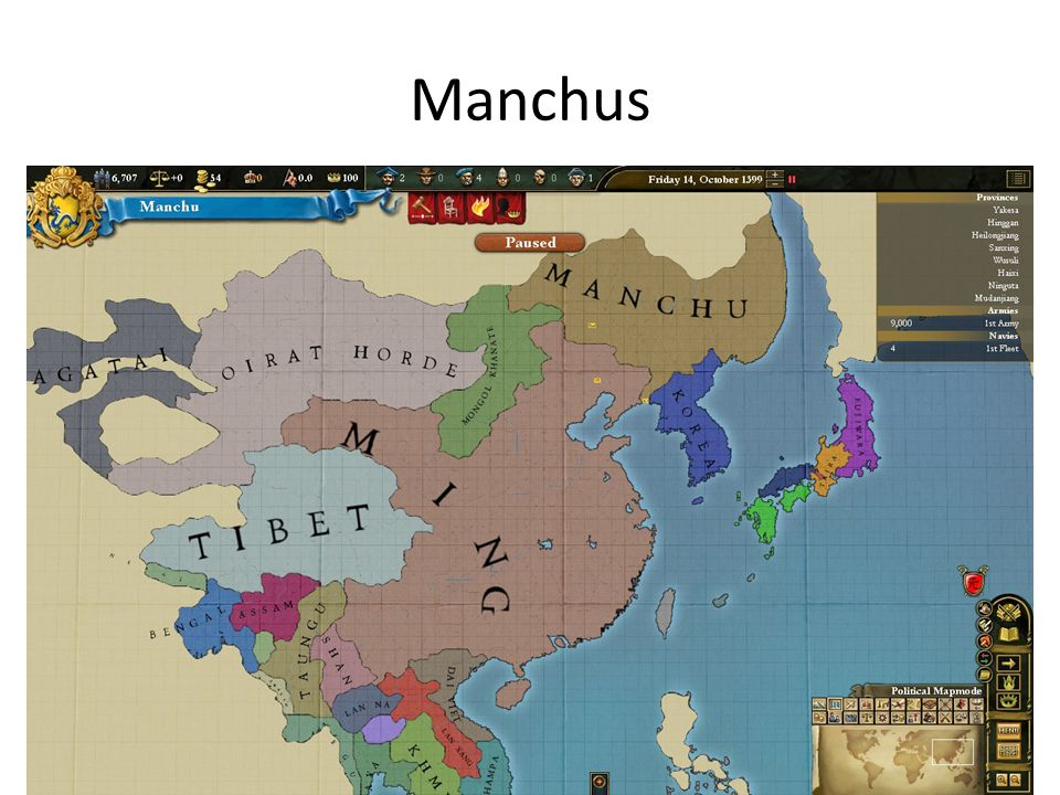 Ming Dynasty began to decline due to high taxes and poor crop harvest led to rebellion People in an area northeast of China (Manchuria) began to invade the Ming After defeating the Ming, they started their own dynasty known as the Qing Dynasty Limited foreign contact with other parts of the world Qing Dynasty ended in 1911