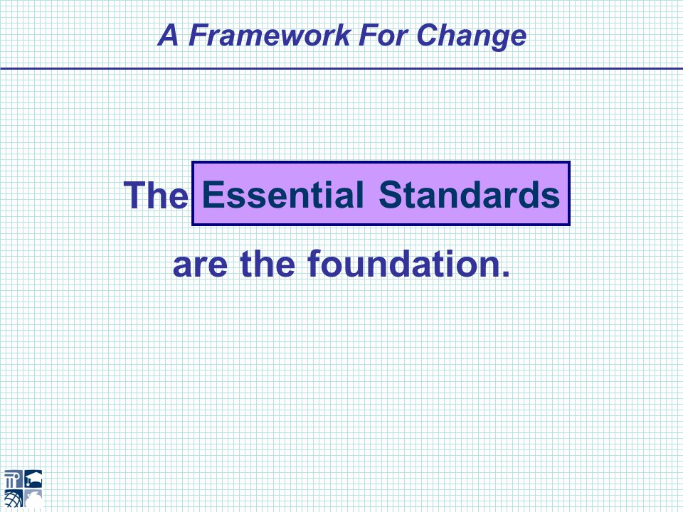 A Framework For Change How do we know students are achieving what is essential to compete in the 21 st century.