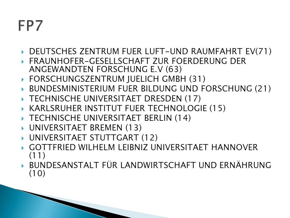  In FP5, FP6 and FP7, Turkey and Germany has 742 projects in all situations.