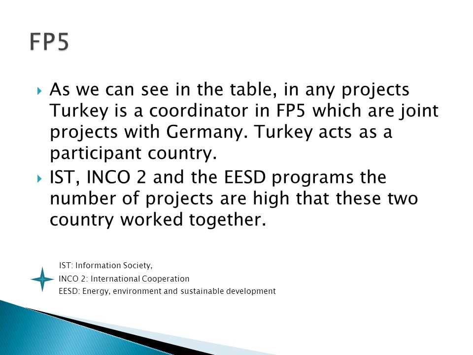  In FP5, MIDDLE EAST TECHNICAL UNIVERSITY has the biggest number of share as a partner institute.