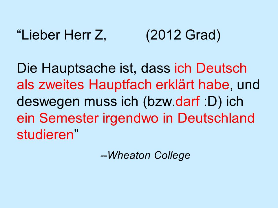Final words: Perhaps you don't need to take German in your senior year.