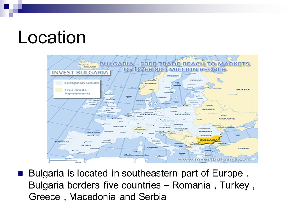 A few interesting facts about Bulgaria … Bulgaria's capital city is Sofia.