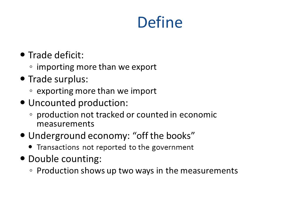 GDP Identify the categories of goods and services that make up GDP.