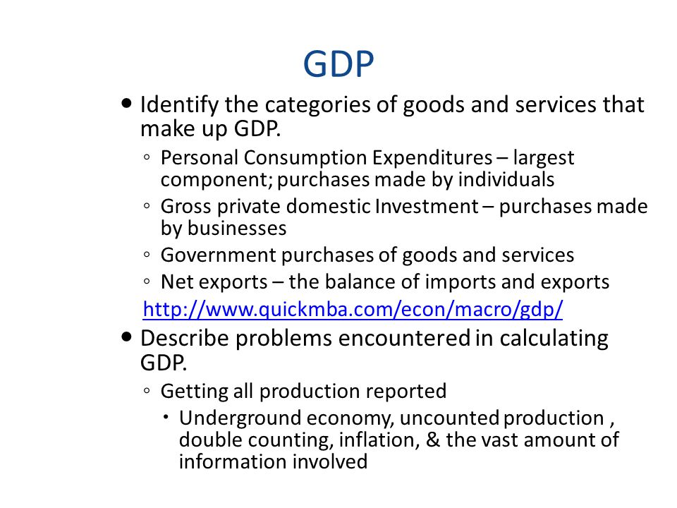 GDP Explain the importance of a country s GDP.