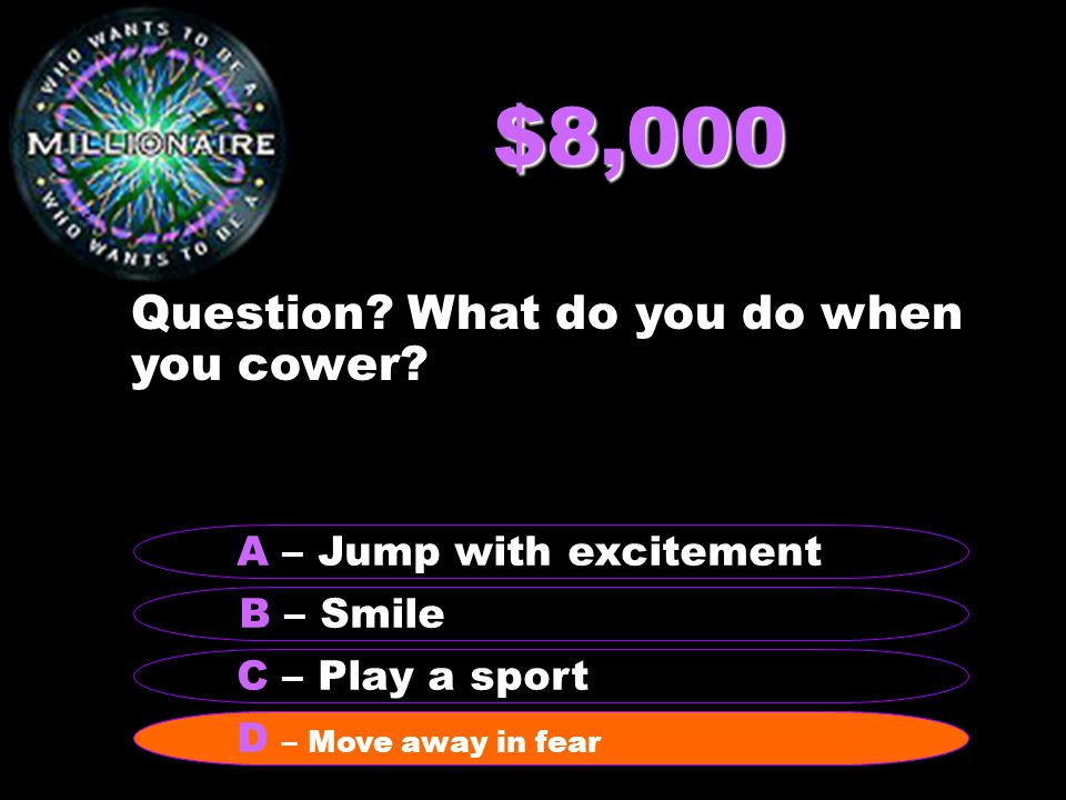 $16,000 Question.What do you do during a Rorschach test.