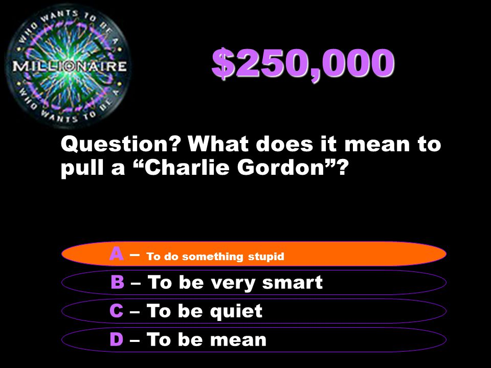 $500,000 Question.What is the climax of the story.