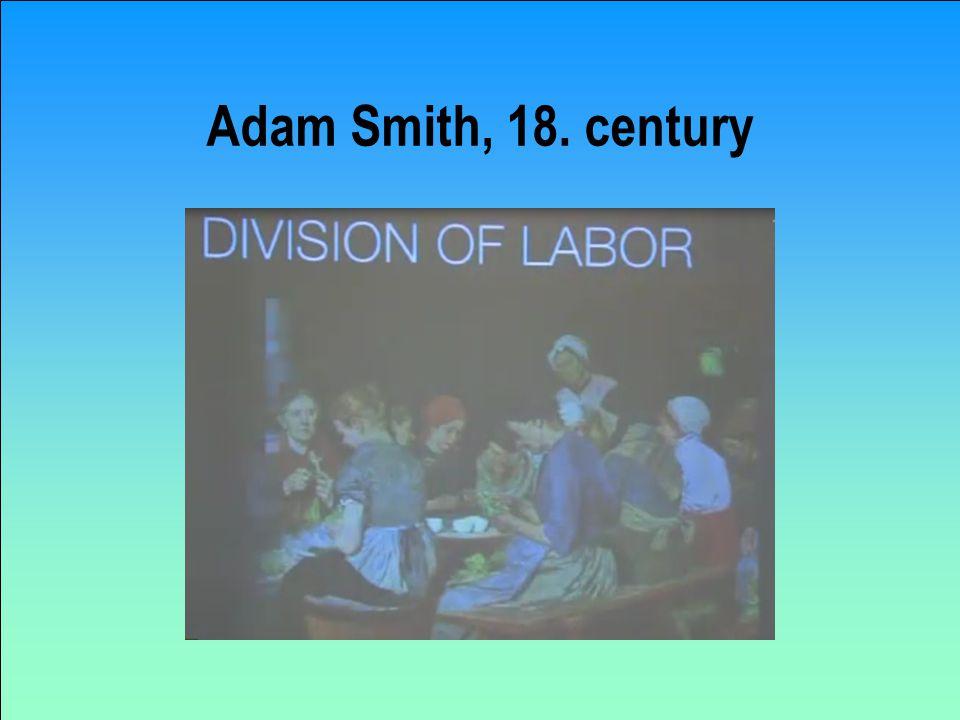 Adam Smith, 18. century