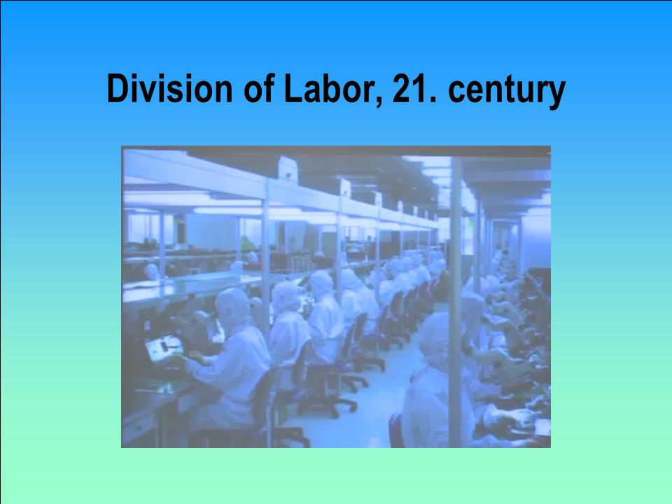 Division of Labor, 21. century