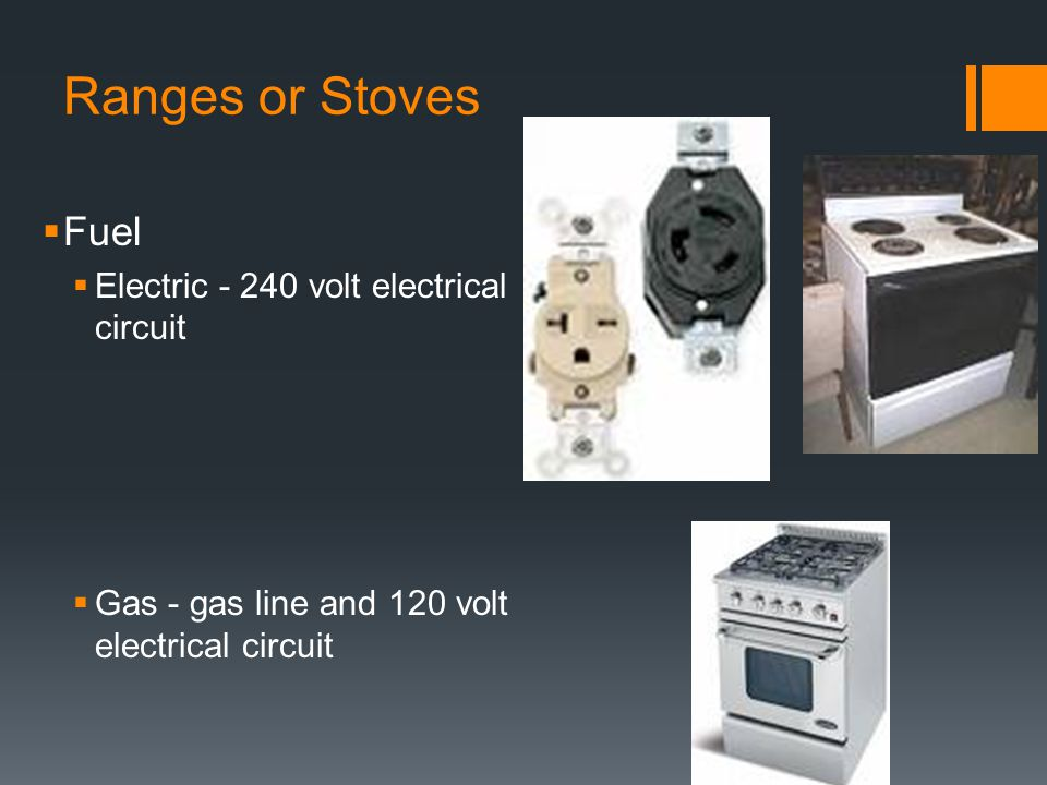 Ranges or Stoves cont.