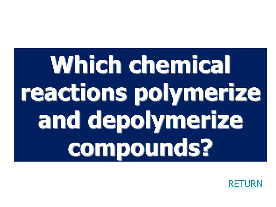 Which chemical reactions polymerize and depolymerize compounds.