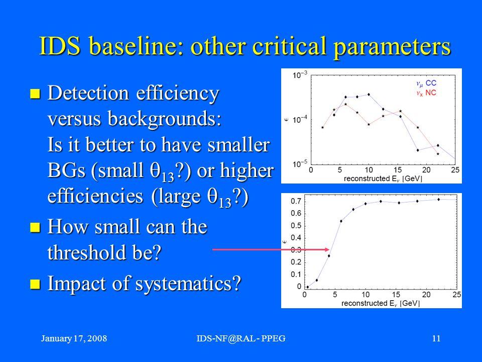 January 17, 2008IDS-NF@RAL - PPEG12 IDS baseline iteration procedure.