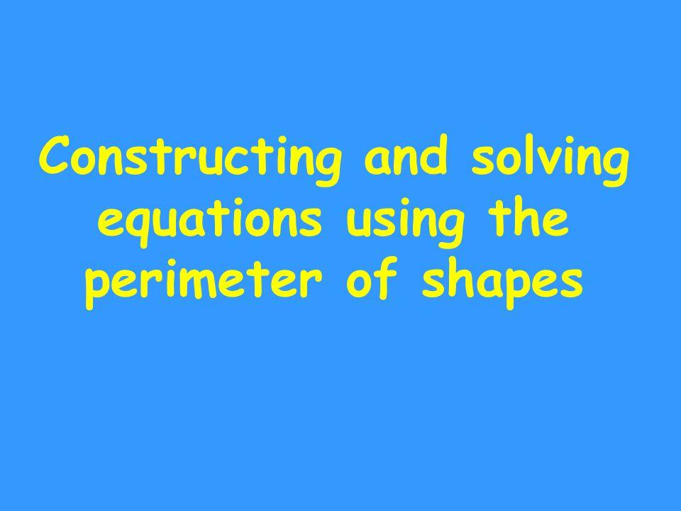 Perimeter and algebra n + 2 3n 6n The perimeter of this shape is 22cm.