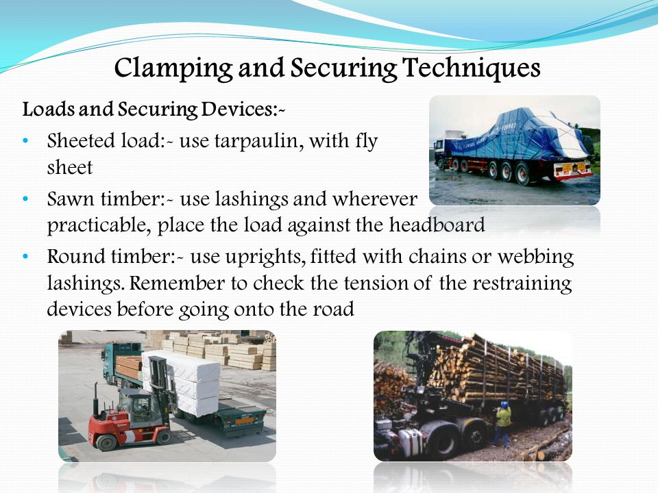 PROJECTING LOADS Wide loads on vehicles complying with C & U Regs.