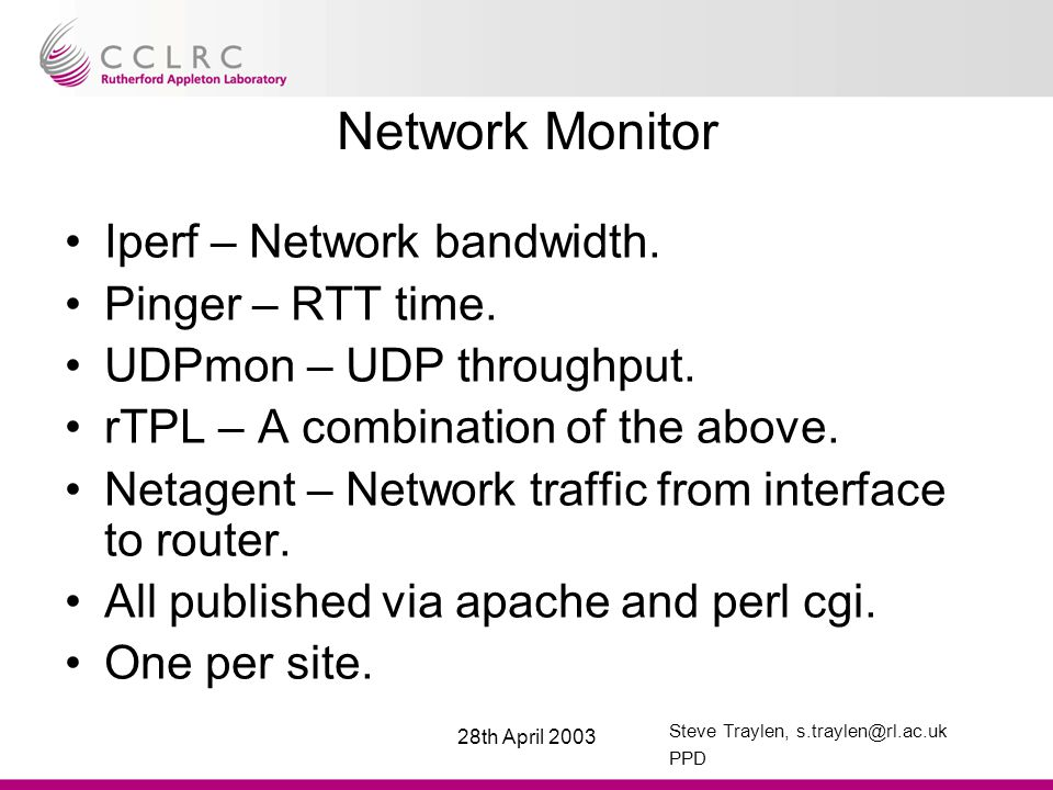 Steve Traylen, s.traylen@rl.ac.uk PPD 28th April 2003 VOMS and MyProxy node VOMS –Apache (mod_perl) –MySQL –One per VO required.