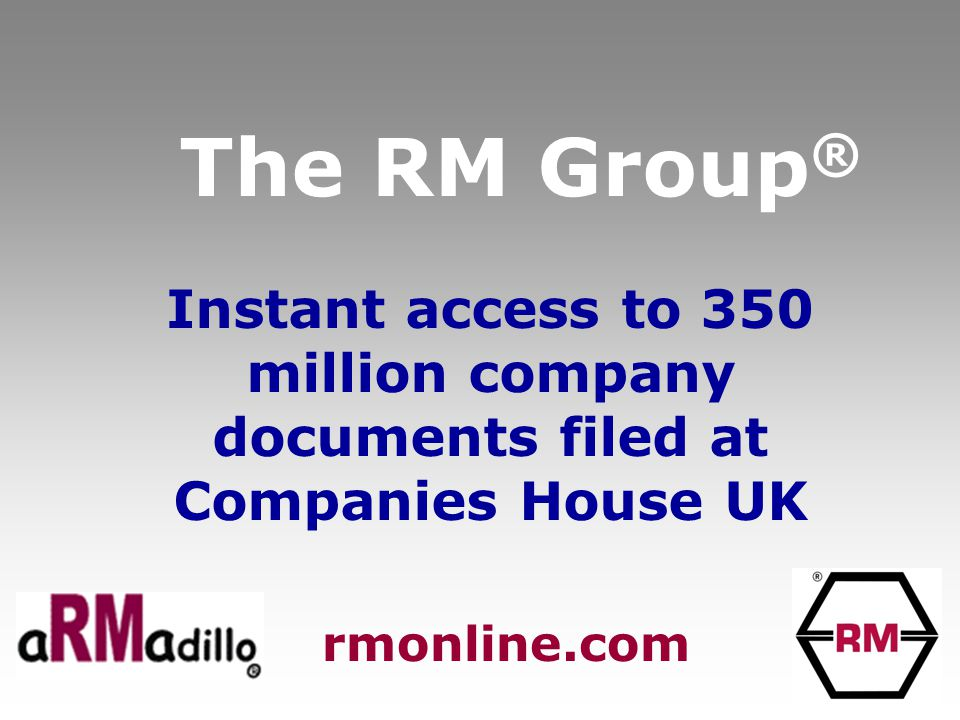 The RM Group ® Full reports on 3.7 million UK companies -Not just Companies House !!! rmonline.com