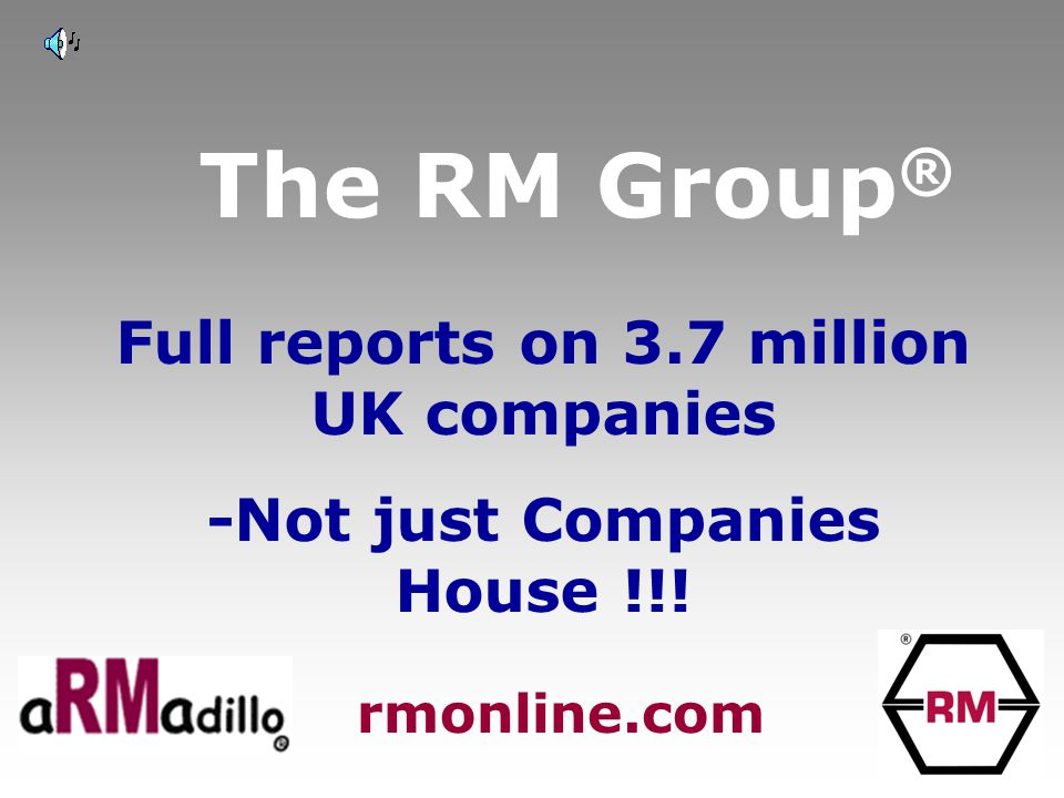 The RM Group ® Full company data Court data Credit data Ratios & Analysis rmonline.com