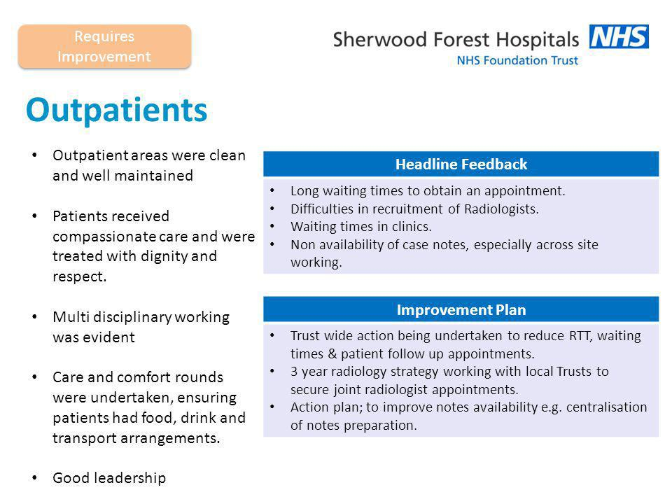 End of life Care and Comfort Rounds carried out regularly Patients had chosen to stay at our Trust Staff no longer use the Liverpool Care Pathway Headline Feedback Communication with relatives was not always clear.