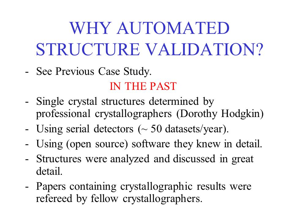 Why Automated Validation.