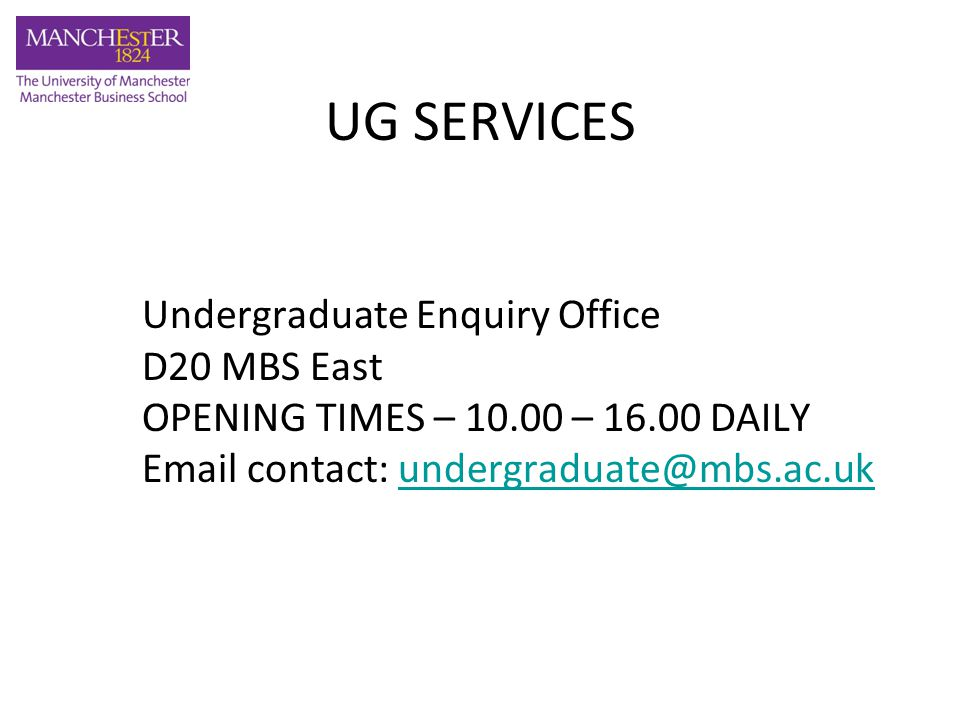 STUDENT SERVICES CENTRE Student Service Centre – Burlington Street For registration/fees, documentation including letter requests, loans and grants, exams and graduation information