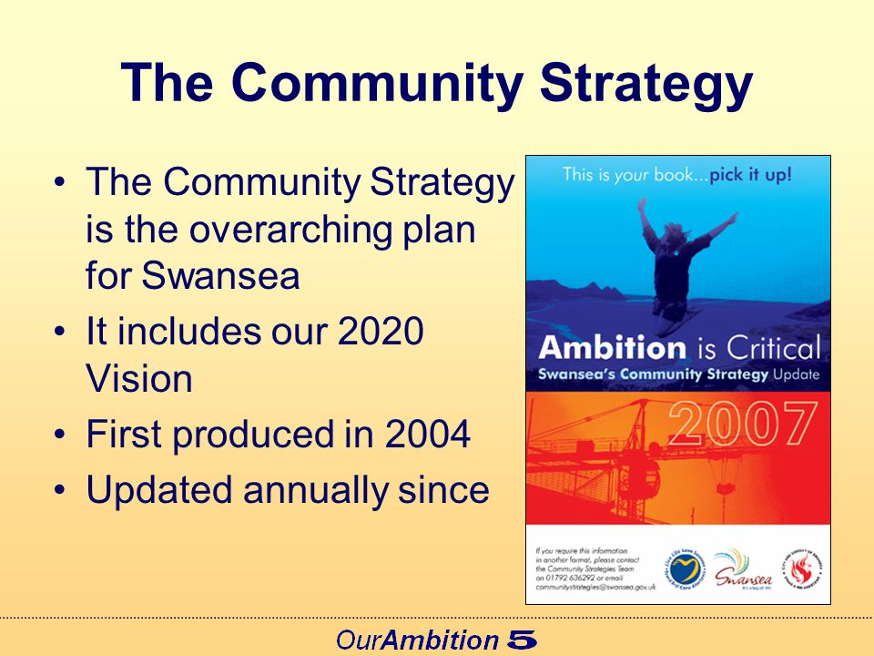 New Draft Guidance Community Strategies so far strong on engagement – less strong on leadership… New guidance will be statutory & supported by advice notes Duty to Co-operate Proposed