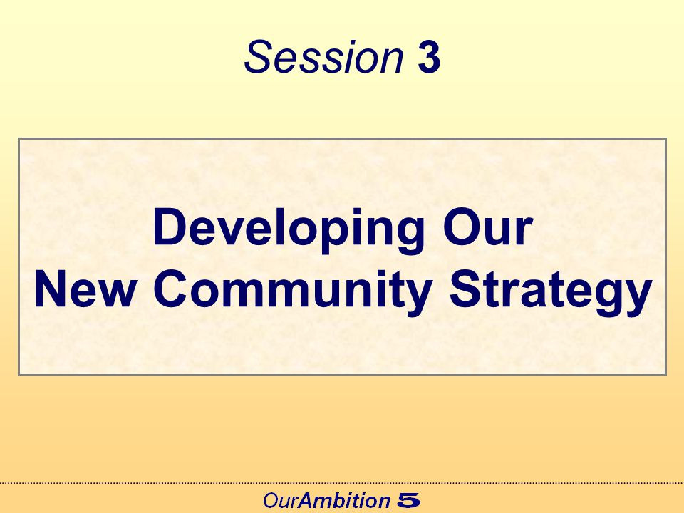 Three Proposals Each proposal could be developed further and included in the New Community Strategy Each proposal intended to add value to partnership working and make a difference Each needs your ideas