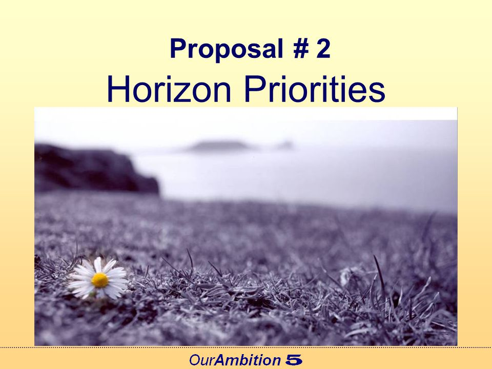 Proposal # 3 Open Projects