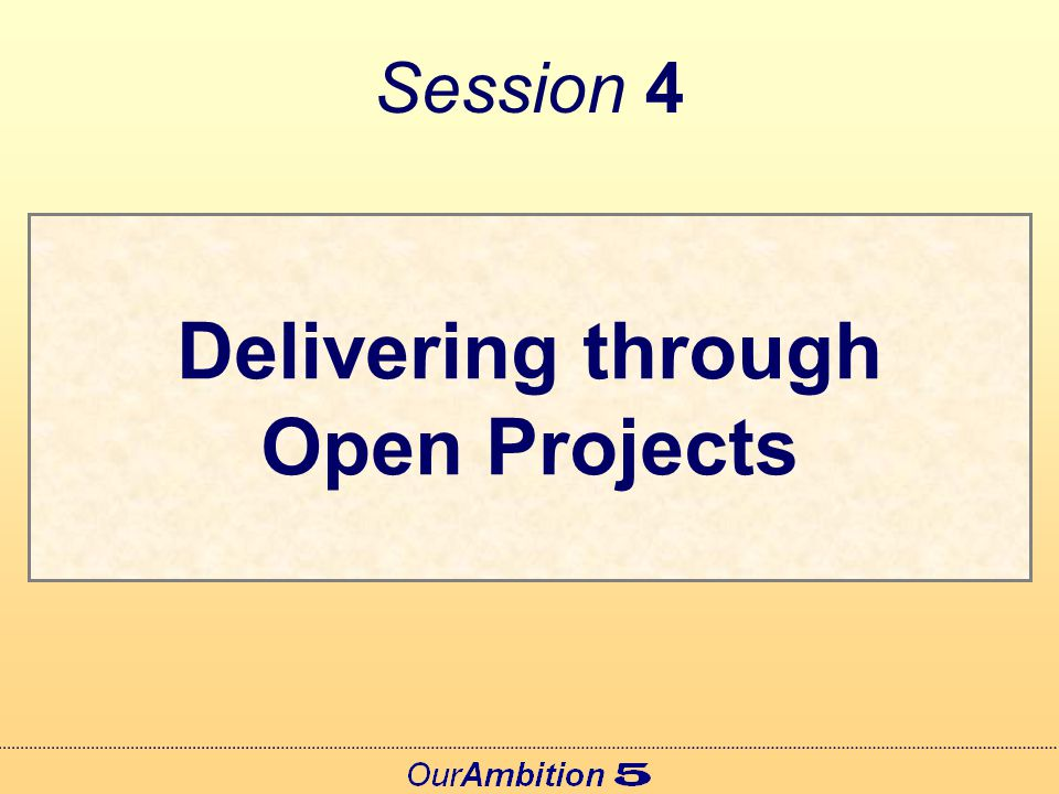 What's Different About Open Projects.