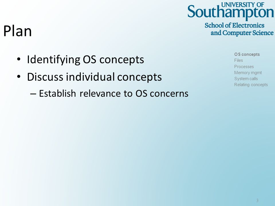 Discussion Are you familiar with the following OS concepts.