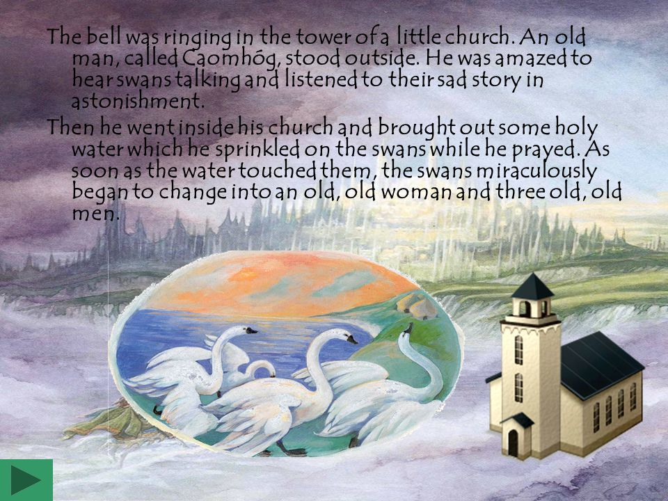 The bell was ringing in the tower of a little church.