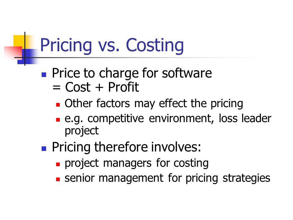 Costs vs.