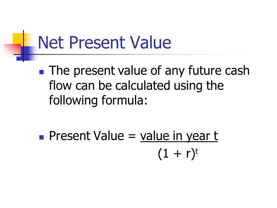 PV Exercise If I gave you £100 in one year's time, what would be its present value.