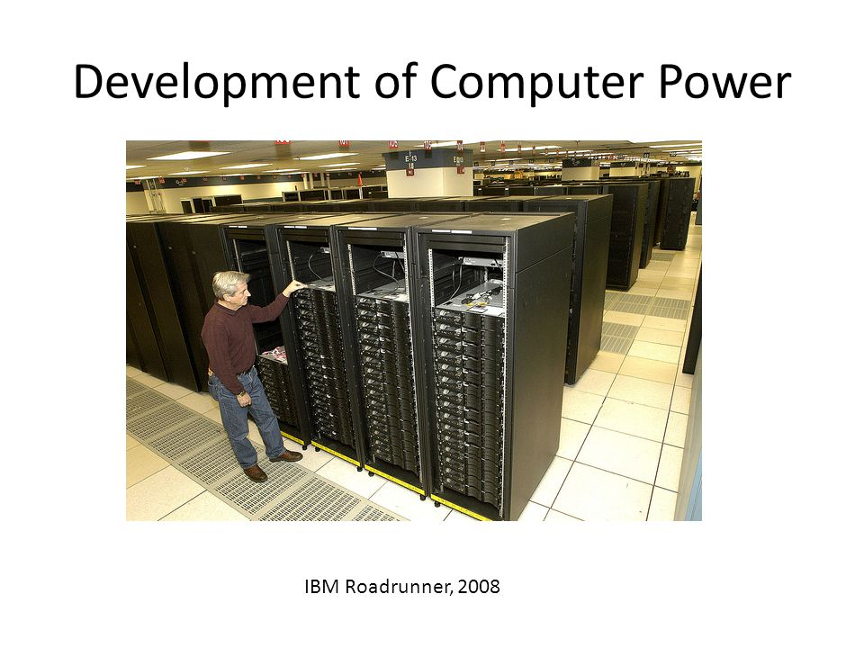 Computer Power: Moore's Law Computer power doubles every two years: exponential growth