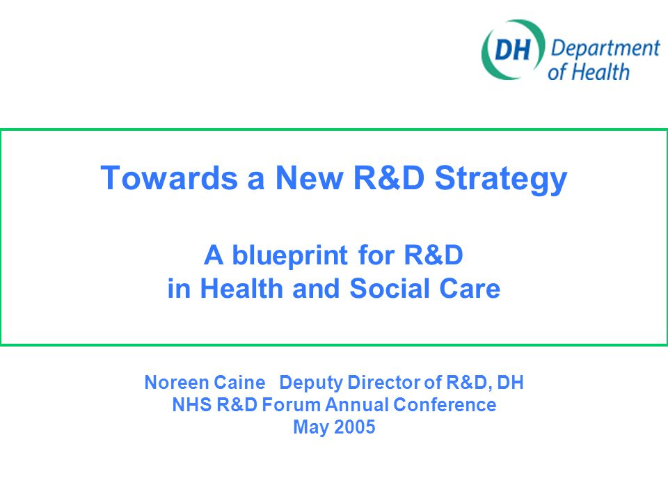 Overview  Why we need a new R&D Strategy  Challenges and Objectives  Progress and Timescales  Issues for Discussion