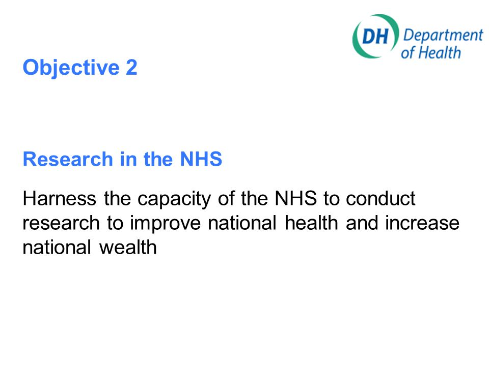 Objective 3 The Academic research base Strengthen the capacity of the Academic sector to support applied and practice-based health and social care research