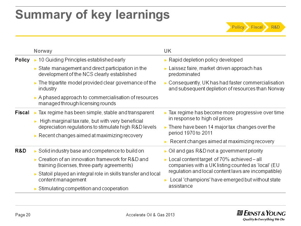 This document has been prepared by Ernst & Young.