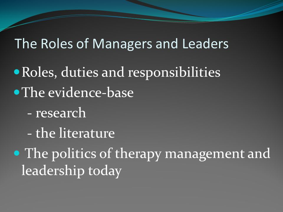 What is the special contribution of AHP managers and leaders?