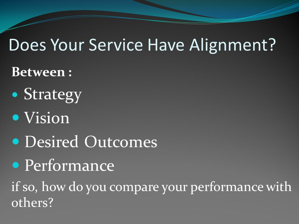 Have you thought of Benchmarking.