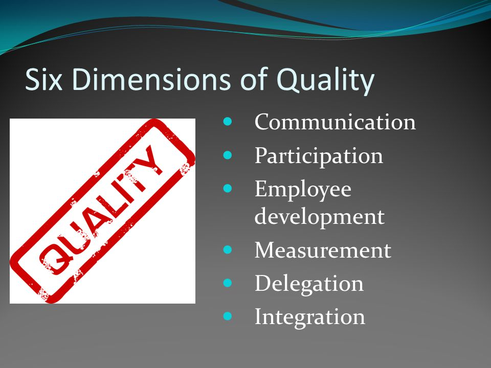 Management Quality Matrix Evaluating a wide range of performance parameters Draws on management quality, industrial and healthcare excellence work Concepts: Performance Management 'Lean' Six Sigma Balanced Scorecard 'Dashboards' TQM Benefits Realisation