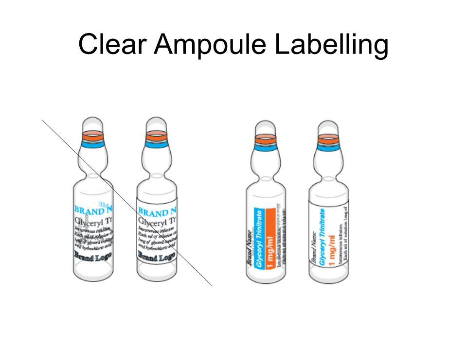 Clear Vial Labelling
