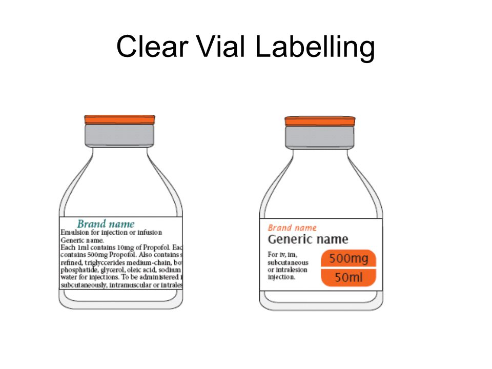 Clear Infusion Labelling
