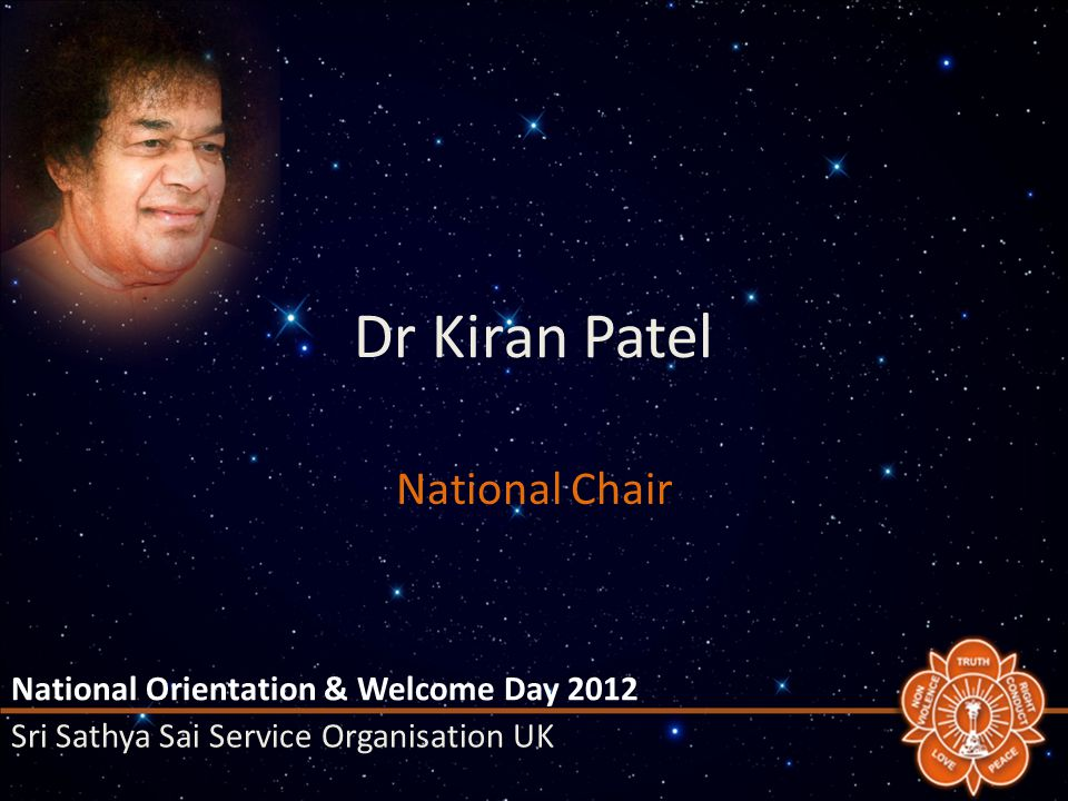 Goals Initiate activities in Prasanthi Nilayam – Pilgrimage Later in Year + Annual – Hospital Rota overseen by NHCCC – Chaitanya Jyoti Museum / Services National Orientation & Welcome Day 2012 Sri Sathya Sai Service Organisation UK
