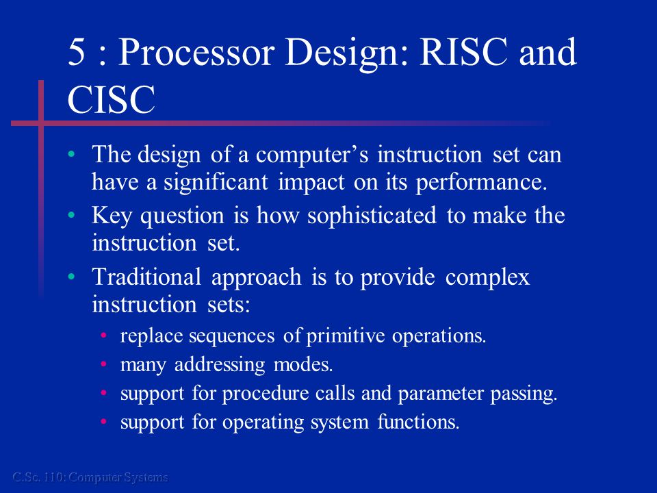 5 : Multiprocessor Systems Another approach to improving performance is to introduce more processors.