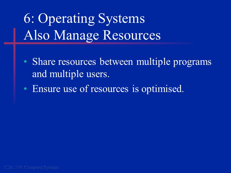 6: Operating Systems in Context Applications Software (e.g.