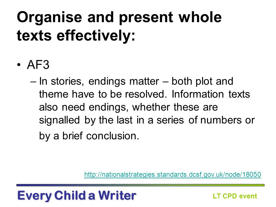 LT CPD event Every Child a Writer How can we engage at whole text level.