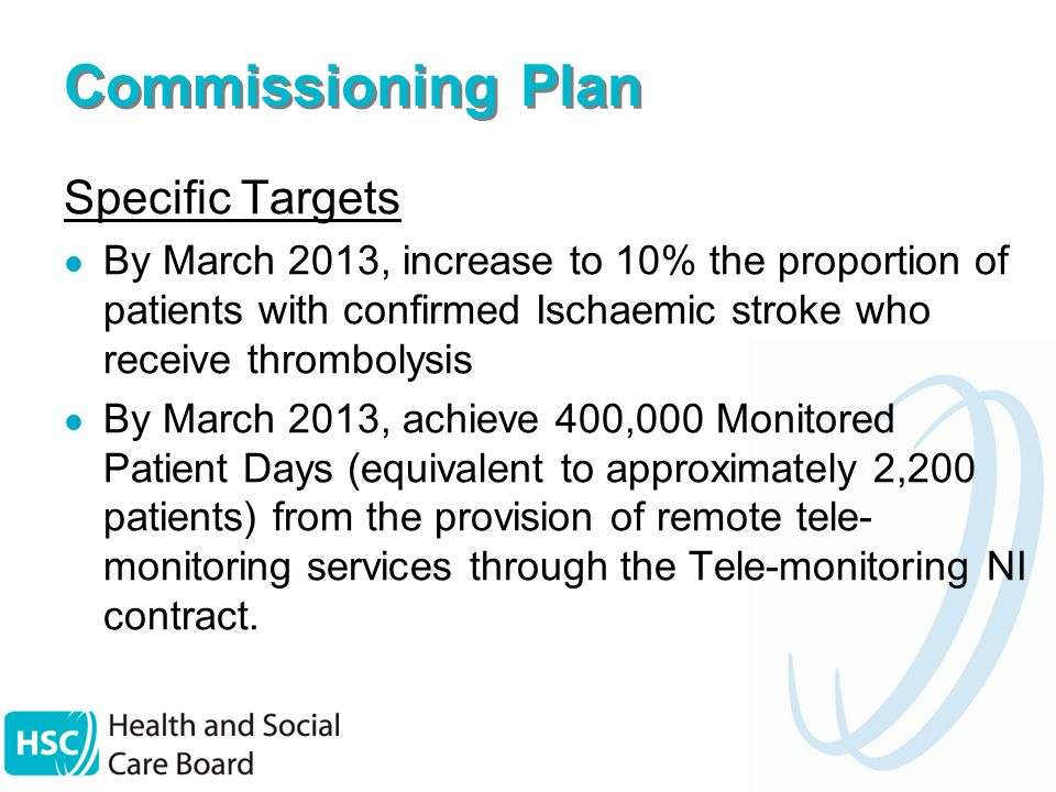 Commissioning Plan - LTCs Key Deliverables Implement COPD Integrated Care Pathway Expand provision of insulin pumps to children & adults with Type 1 diabetes Identify & evaluate current baseline of patient education & self management programmes in place in each Trust area