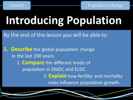 Introducing Population