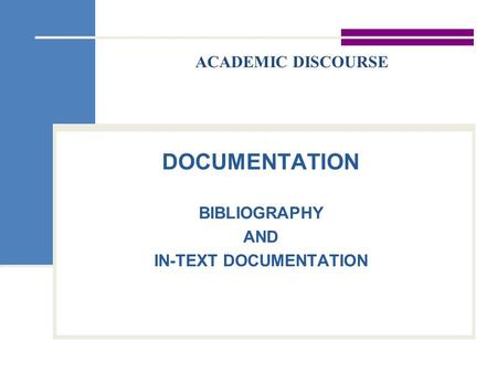 In text documentation